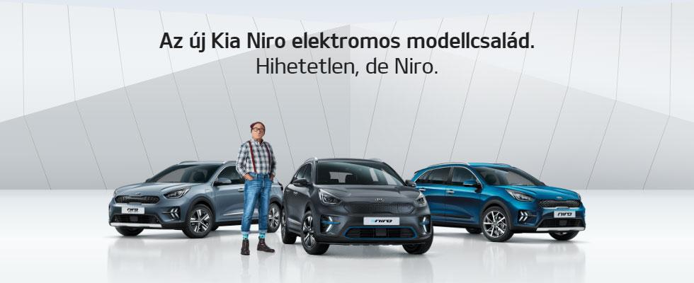 Az új Kia Niro elektromos modellcsalád